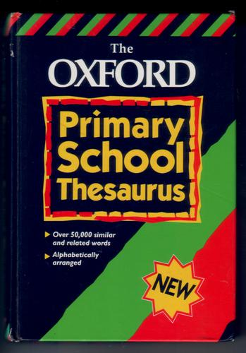 The Oxford Primary School Thesaurus