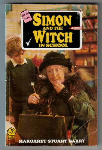 An exercise book cover for Simon and the Witch